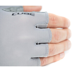 Cube Performance Short Finger Gloves, grey/red
